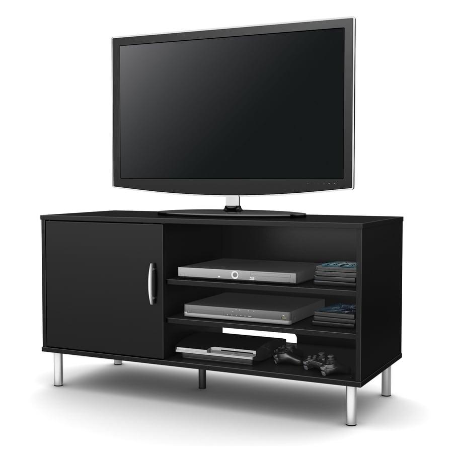 South Shore Furniture Renta Pure Black Rectangular TV Cabinet
