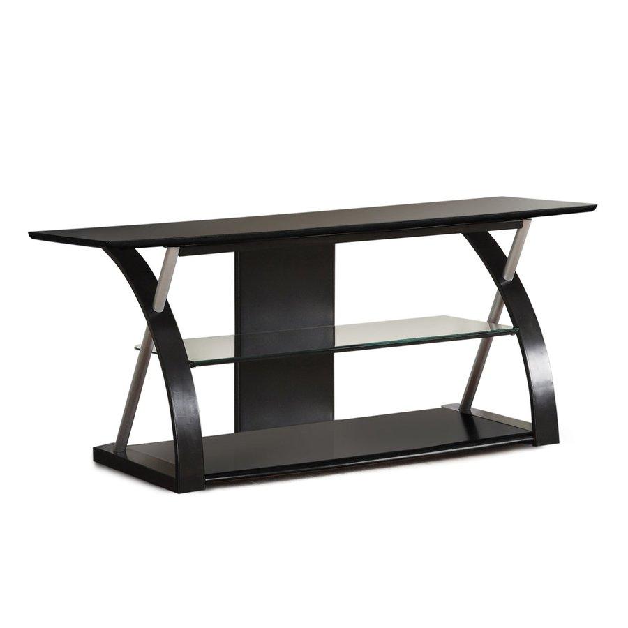 Poundex Lonture Black Rectangular TV Cabinet