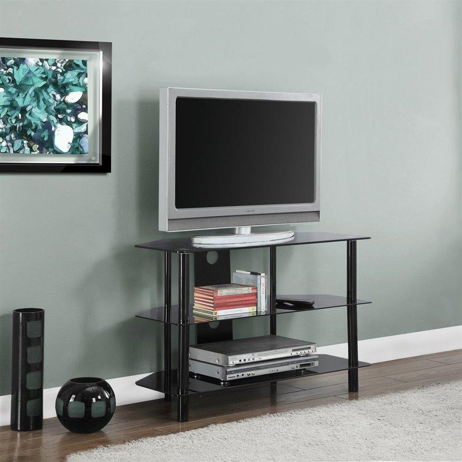 Monarch Specialties Black Rectangular TV Cabinet