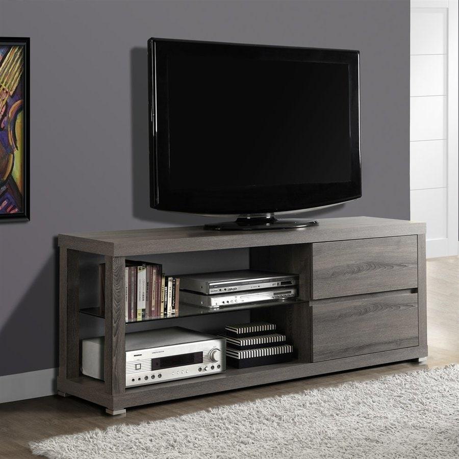 Monarch Specialties Dark Taupe Reclaimed TV Cabinet