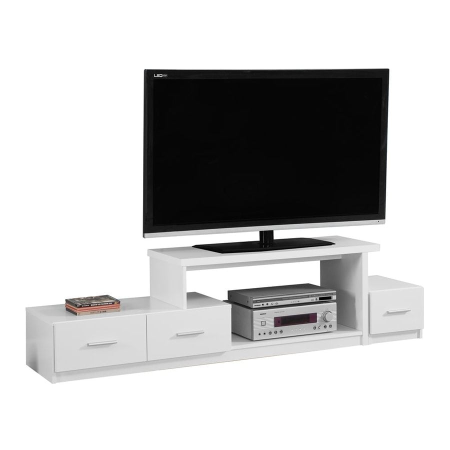 Shop Monarch Specialties White Rectangular TV Cabinet at ...