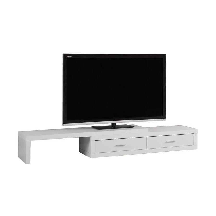 Monarch Specialties White Rectangular TV Cabinet