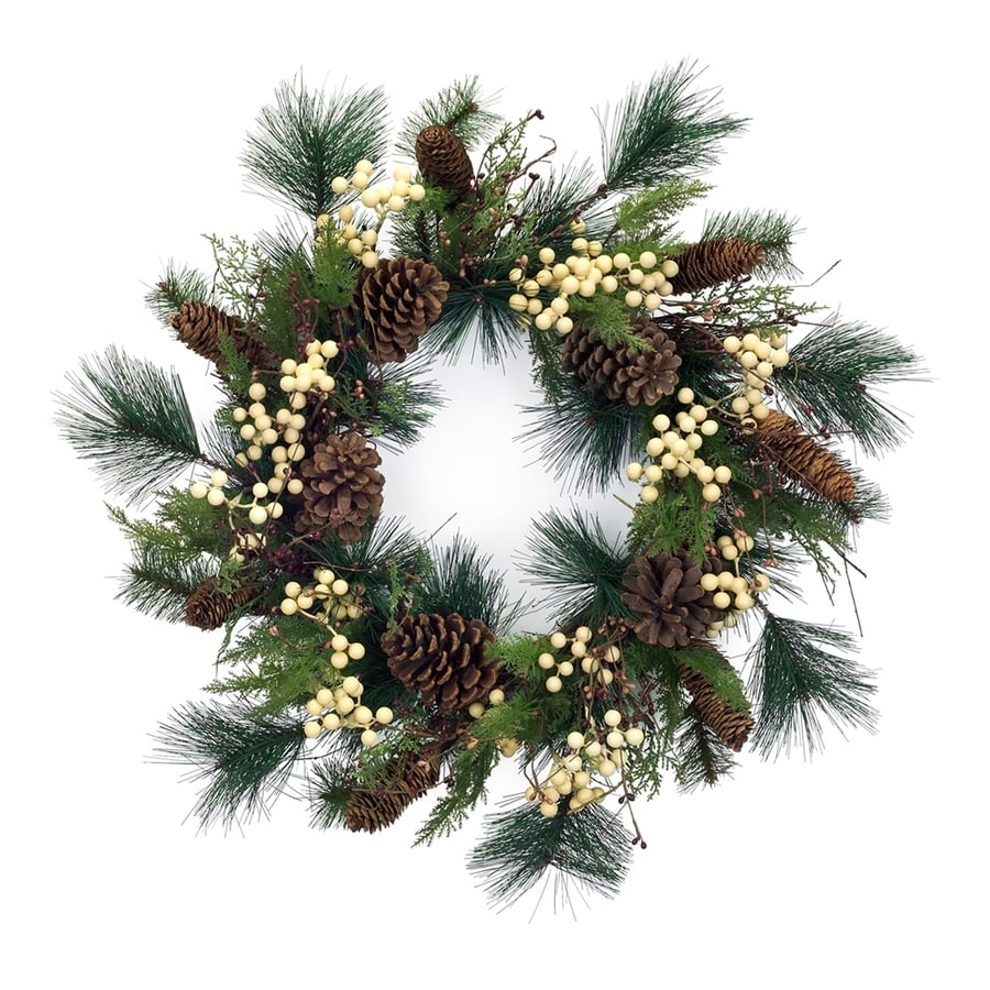 Melrose International 23-in Berry Artificial Christmas Wreath
