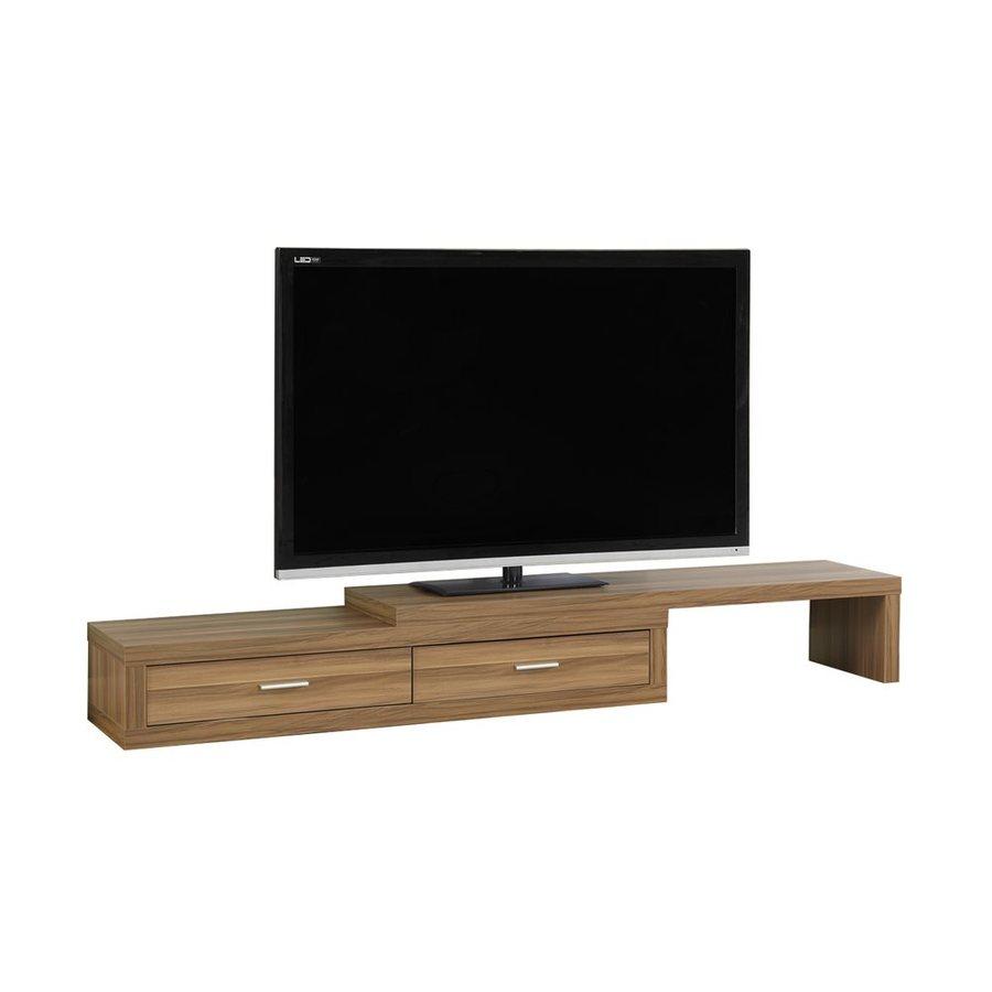 Monarch Specialties Light Walnut Rectangular TV Cabinet