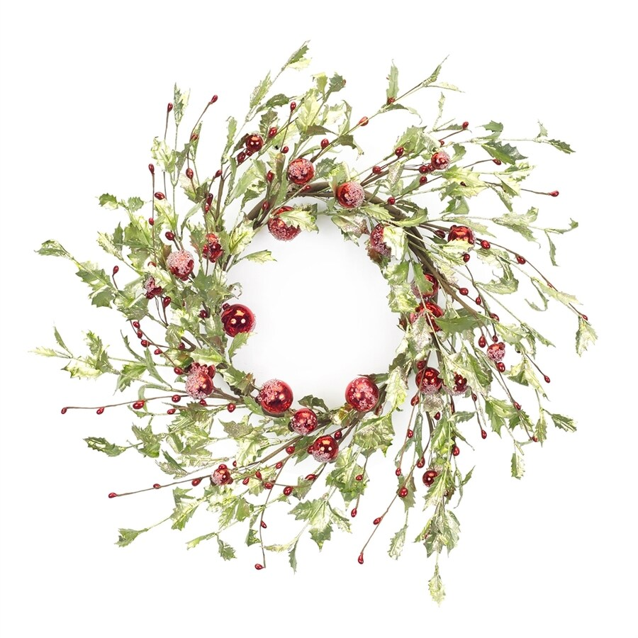 Melrose International 24-in Berry Artificial Christmas Wreath