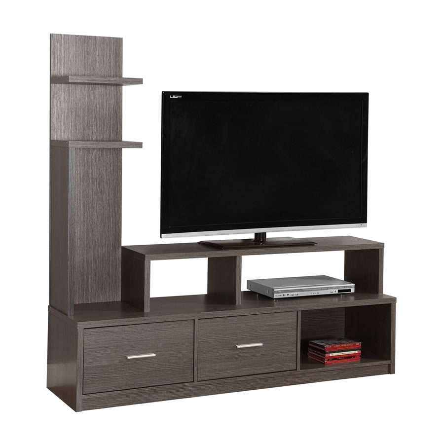 Shop Monarch Specialties Dark Grey Rectangular TV Cabinet ...
