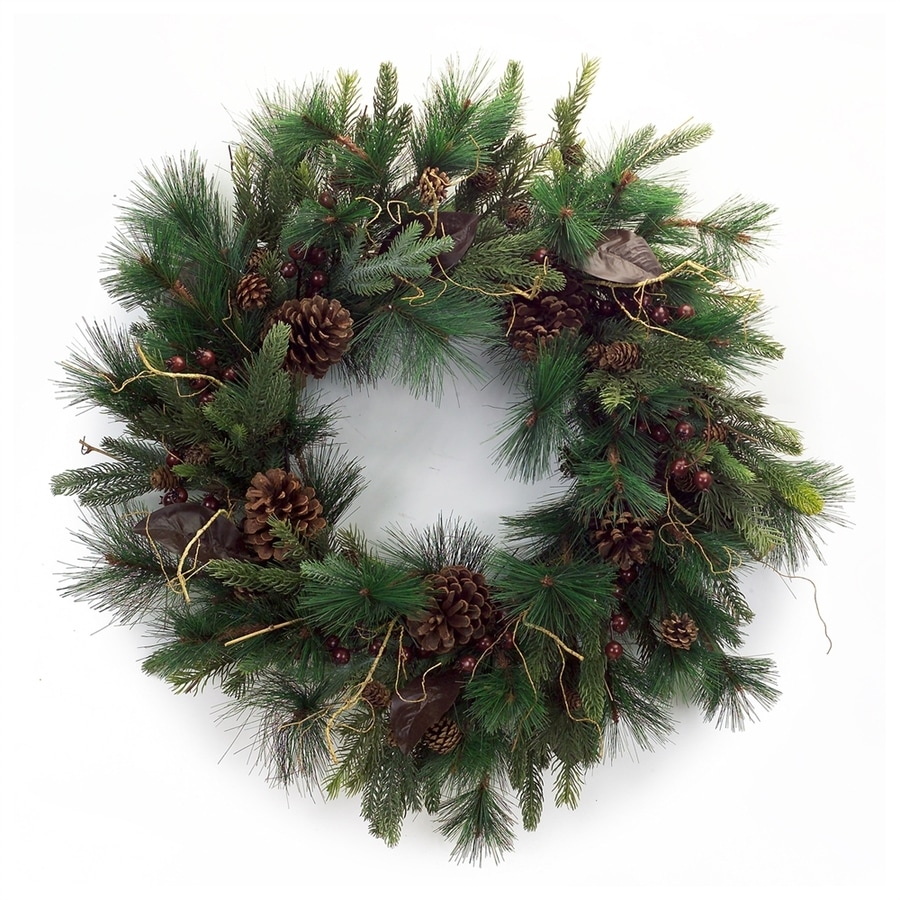 Melrose International 30-in Mixed Pine Artificial Christmas Wreath