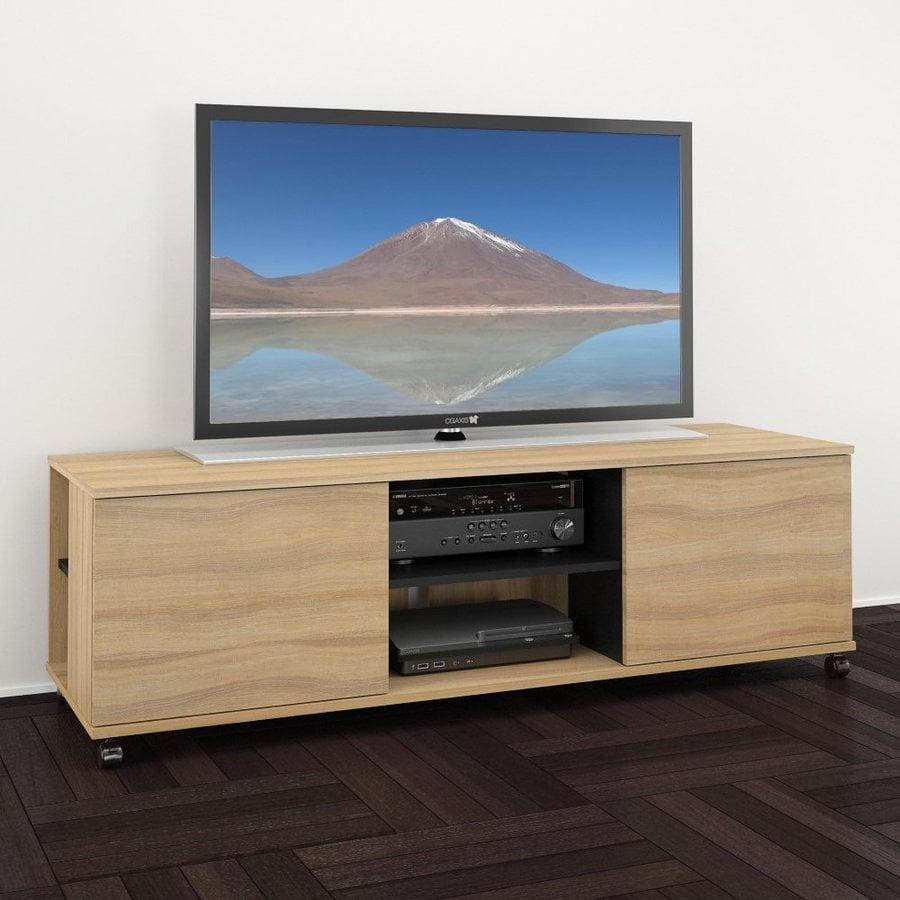 Nexera Jasper Biscotti/Black Rectangular TV Cabinet