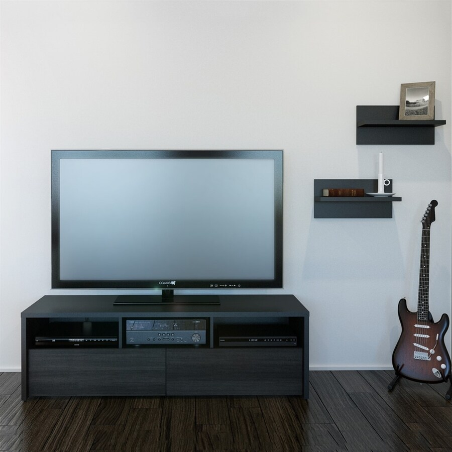 Nexera Sereni-T Black/Ebony Rectangular TV Cabinet