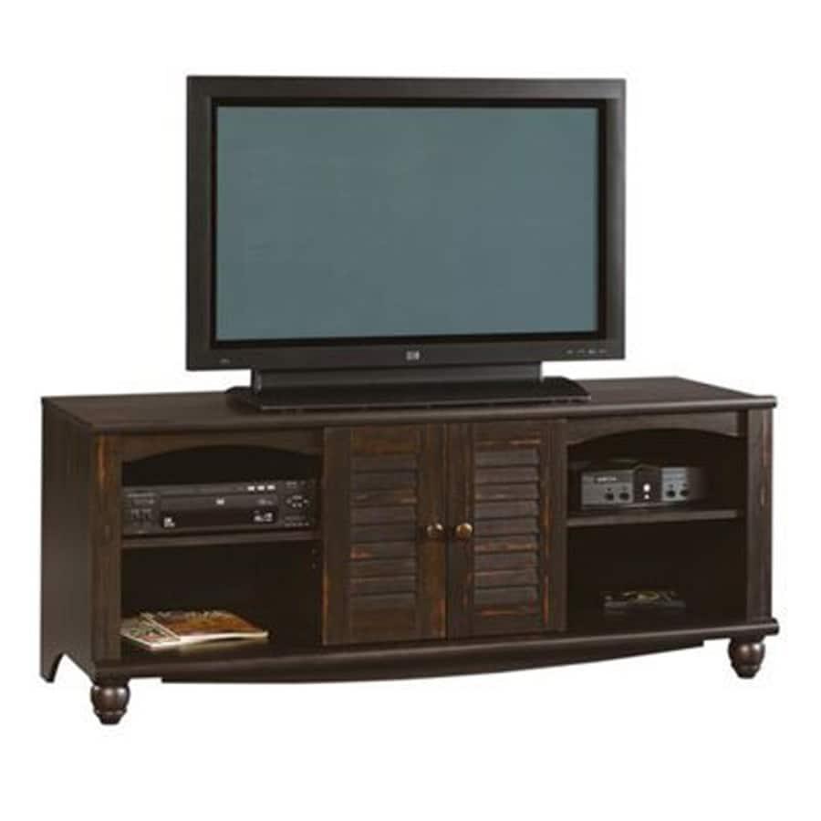 Sauder Harbor View Antiqued Paint Rectangular TV Cabinet