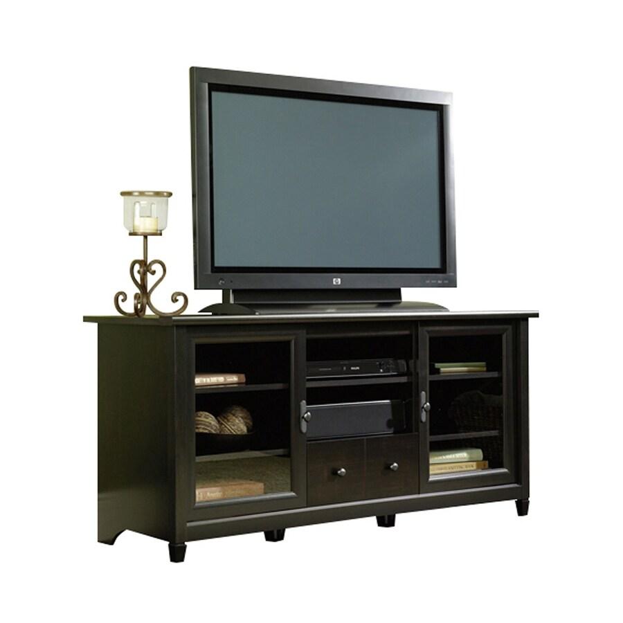 Sauder Edge Water Estate Black Rectangular Tv Cabinet At Lowes Com