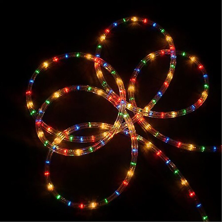Shop northlight 1224 count 102 ft constant multicolor christmas northlight 1224 count 102 ft constant multicolor christmas rope lights in clear tubing aloadofball Choice Image
