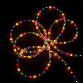Shop christmas rope lights at lowes northlight 1224 count 102 ft constant multicolor christmas rope lights in clear tubing mozeypictures Image collections