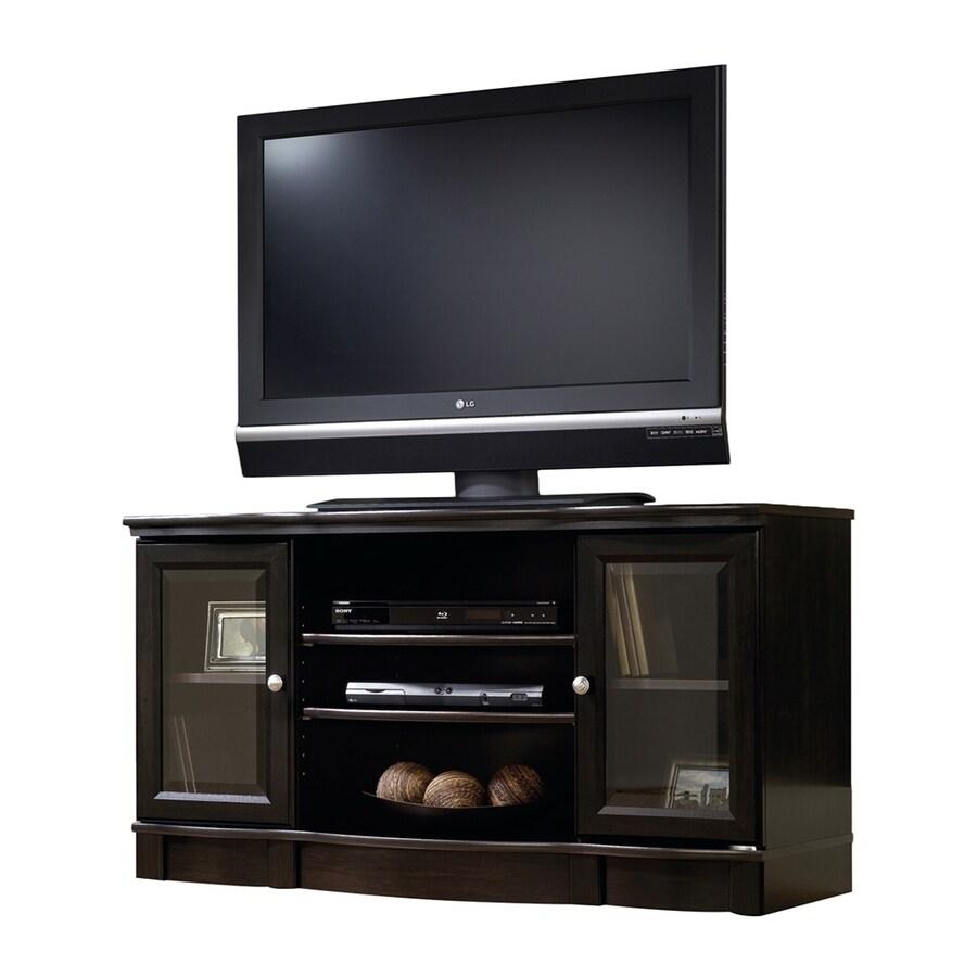 Sauder Regent Estate Black Rectangular Tv Cabinet At Lowes Com