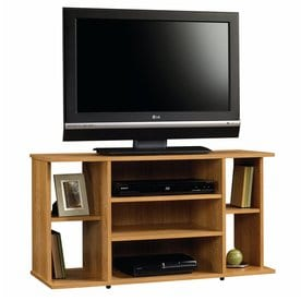 Sauder Beginnings Highland Oak Rectangular Tv Cabinet