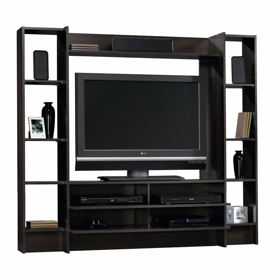 Sauder Beginnings Cinnamon Cherry Rectangular TV Cabinet