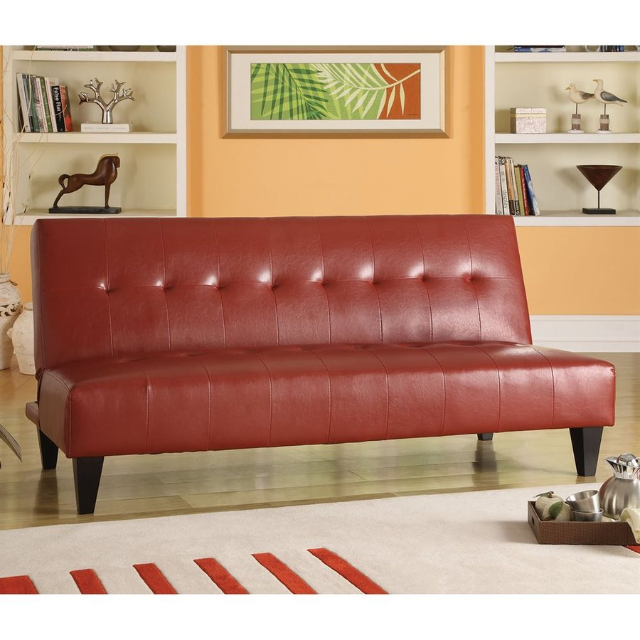 x foldable sponge popamazing red seat futon bed leather sofabed l brown dp faux sofa couch cushion amazon uk h co w