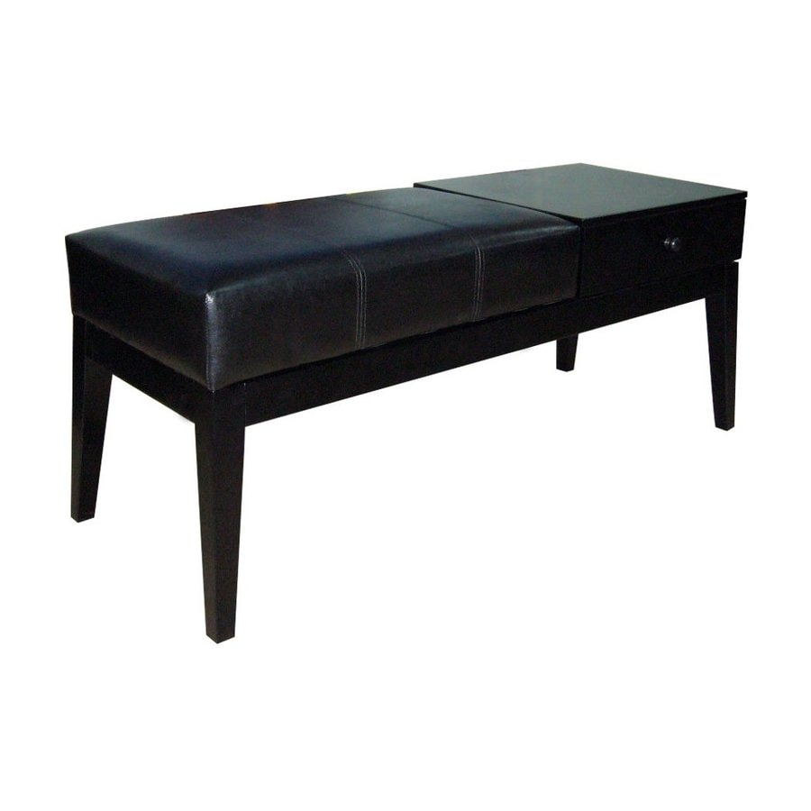 Shop Ore International Transitional Black Storage Bench At