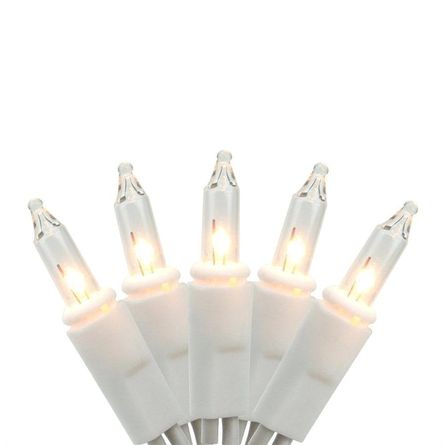 northlight 20 count 19 ft constant clear white mini incandescent plug in christmas