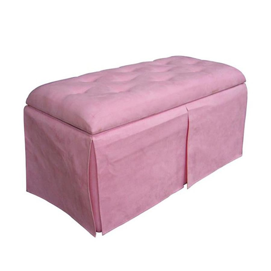 Superbe ORE International Casual Pink Storage Bench