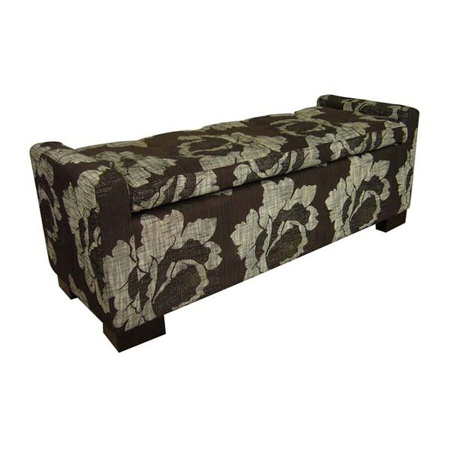 ORE International Transitional Black/White Storage Bench