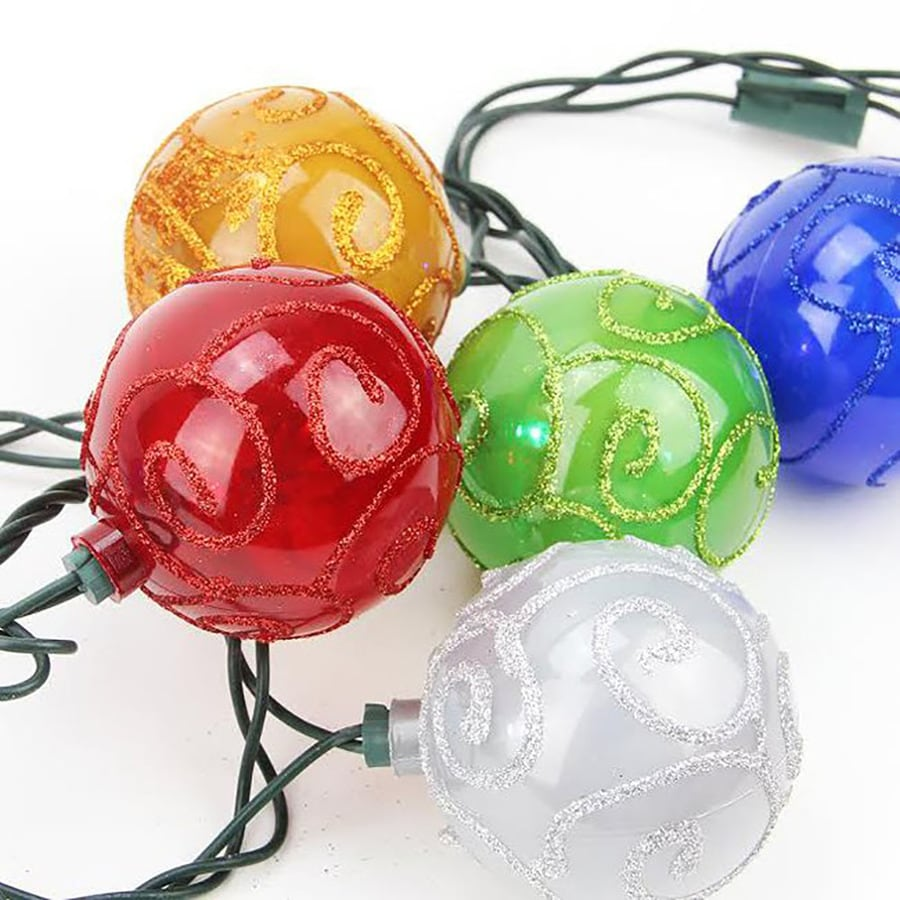 Ball String Christmas Lights : Shop Northlight 10-Count 7.5-ft Constant Multicolor Globe LED Indoor/Outdoor Christmas String ...
