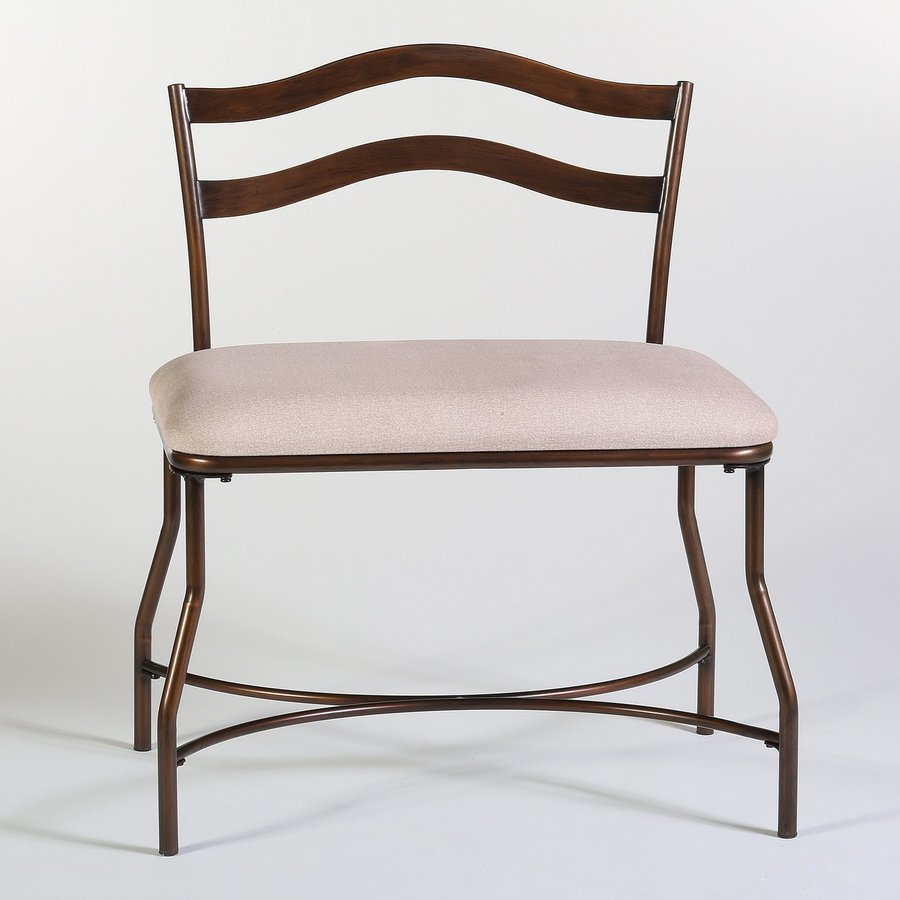 Hillsdale Furniture Windsor Transitional Burnished Bronze/Ivory Accent Bench