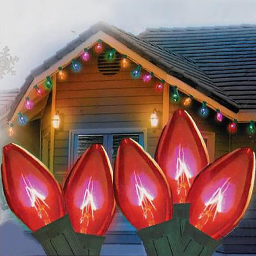 String Lights Outdoor Lowes : Shop Northlight 50-Count 16.3-ft Constant Red C7 Indoor/Outdoor Christmas String Lights at Lowes.com