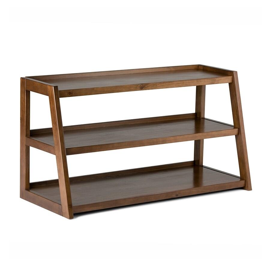 Simpli Home Sawhorse Medium Saddle Brown Rectangular TV Cabinet