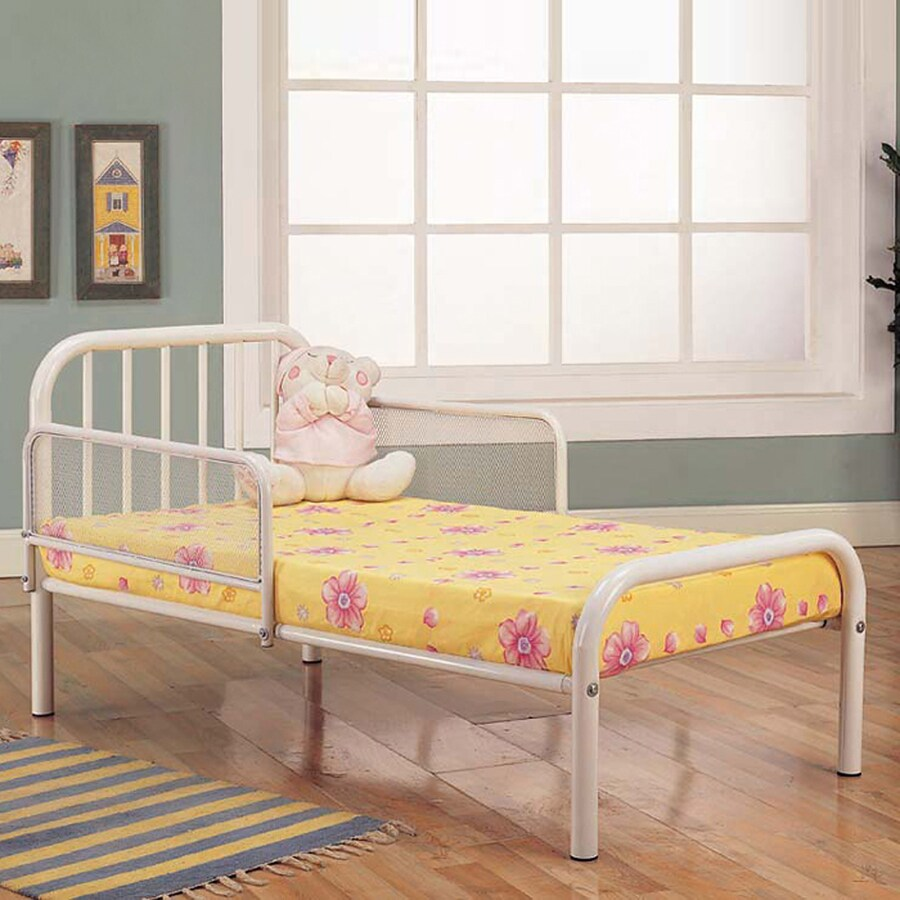 Shop KB Furniture White Toddler Bed At Lowes