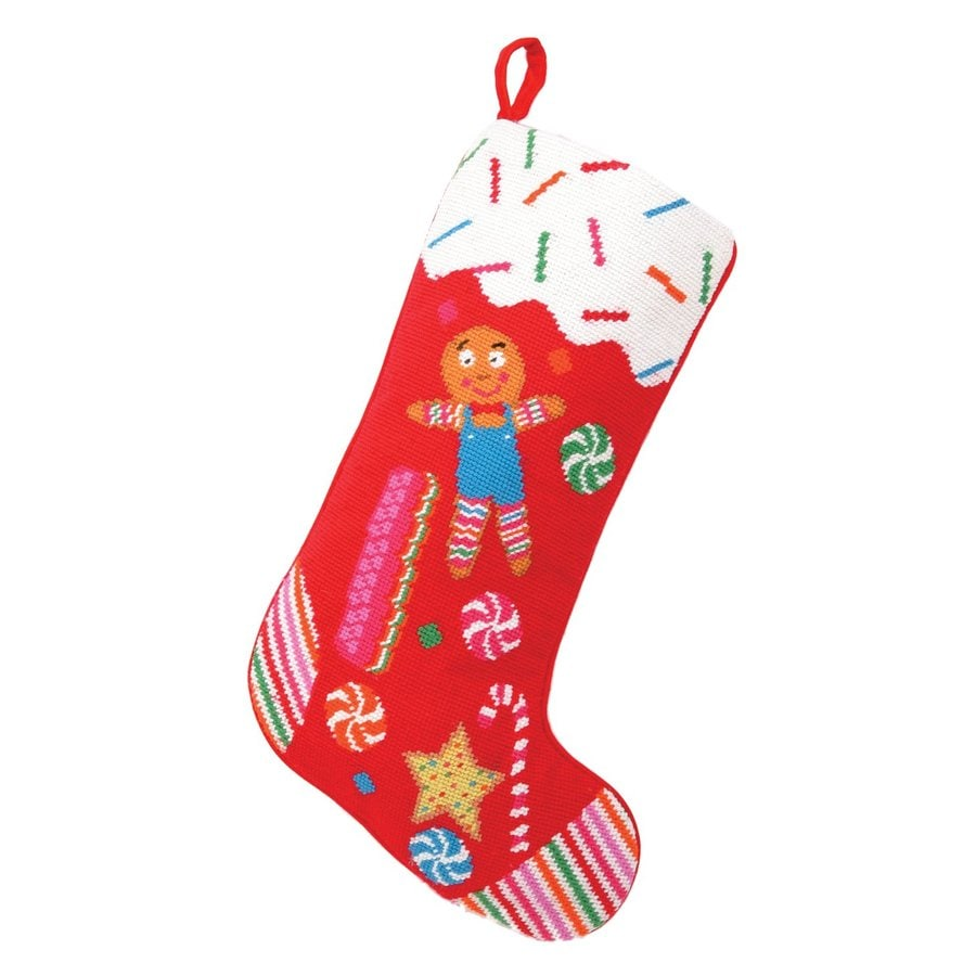 Peking Handicraft 11-in Red Candy Christmas Stocking