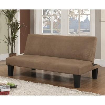 Wondrous Kb Furniture Klik Klak Brown Microfiber Futon At Lowes Com Evergreenethics Interior Chair Design Evergreenethicsorg