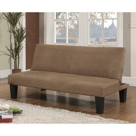 KB Furniture Klik Klak Brown Microfiber Futon