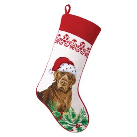 peking handicraft 11in offwhite animals christmas stocking - Christmas Stockings