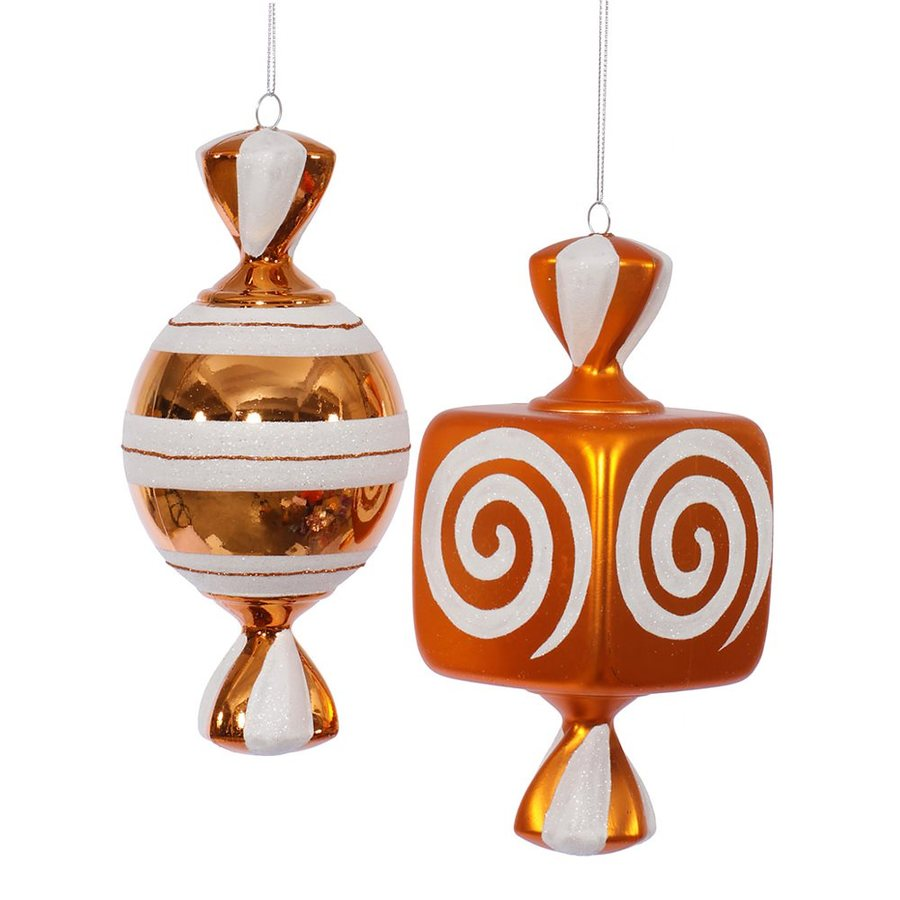 Vickerman 2-Pack Orange Ornament Set