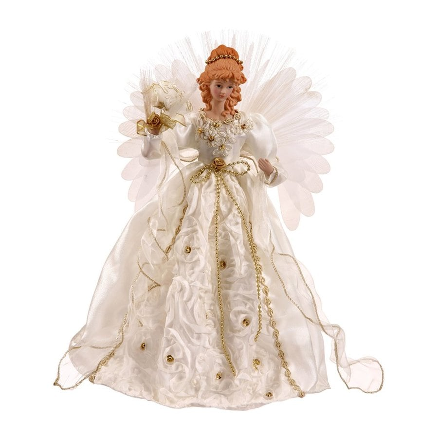 Vickerman 18-in Lighted Fiber Optic Fabric Angel Christmas ...