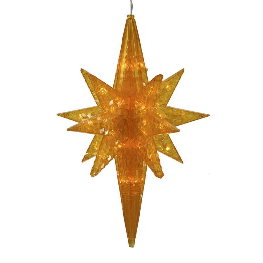 Vickerman Pre-Lit Star Gold LED Lights