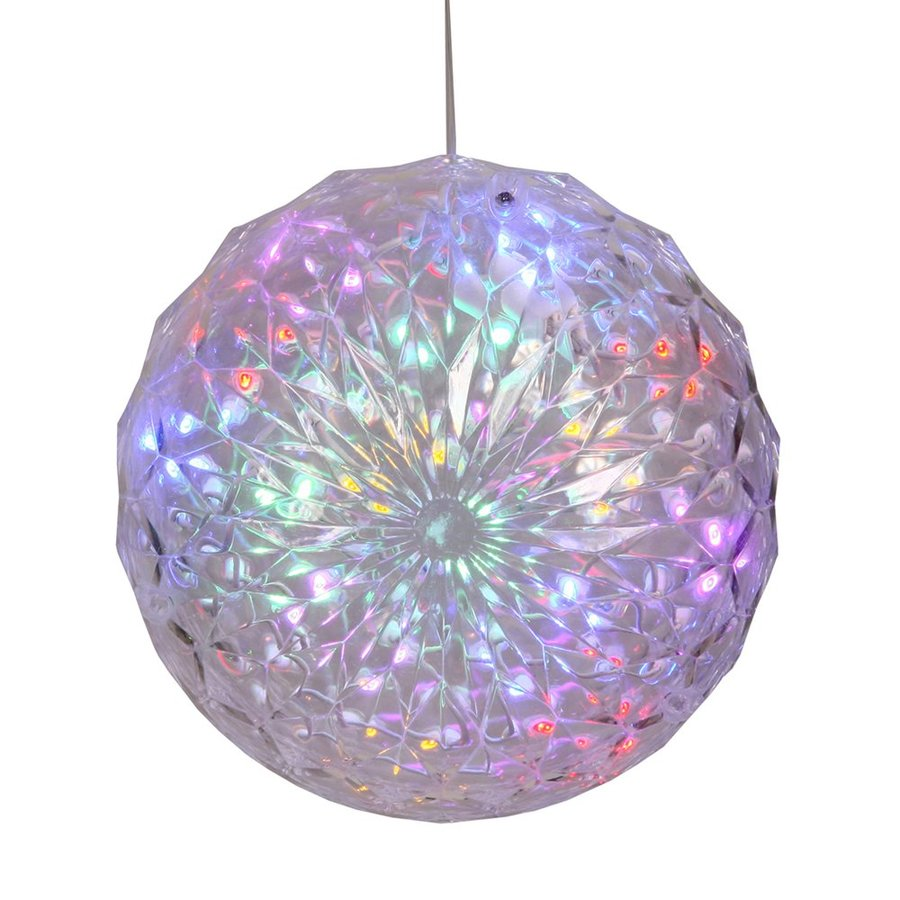 Hanging Outdoor Christmas Lights Youtube: Vickerman 6-in Hanging Ball Light Display With Multicolor