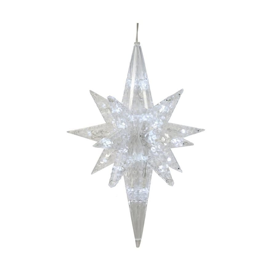 Vickerman 50-Count Constant Clear White Star LED Plug-In Indoor Christmas String Lights
