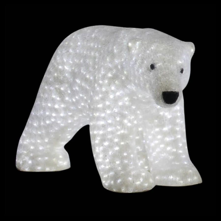 Vickerman 3.58-ft Freestanding Polar Bear Light Display White LED Lights