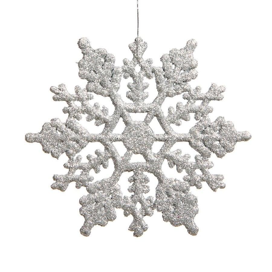 Vickerman 12-Pack Silver Snowflake Ornament Set