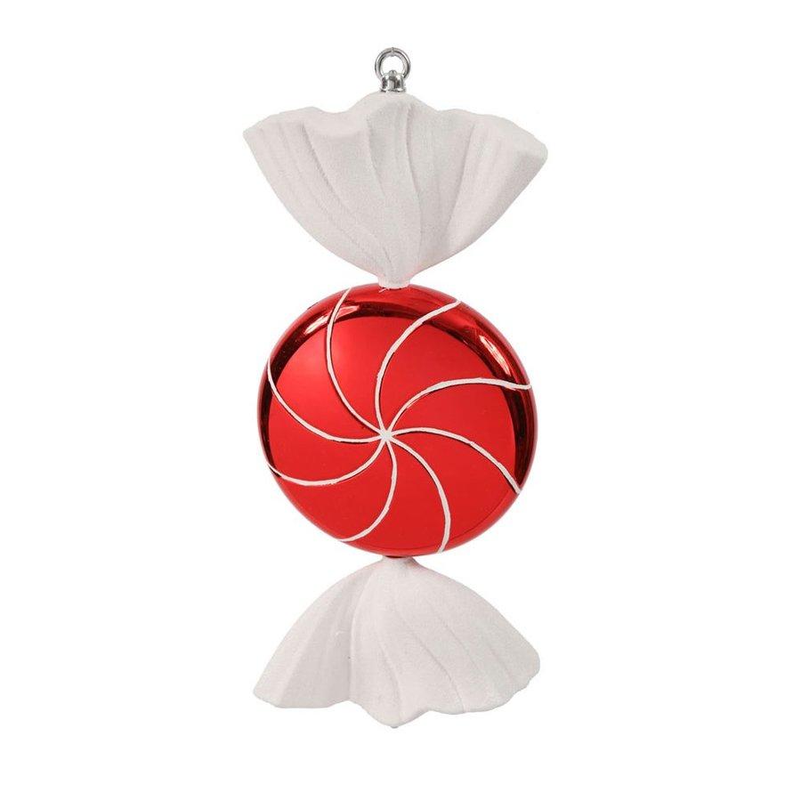 Vickerman Red/White Ornament