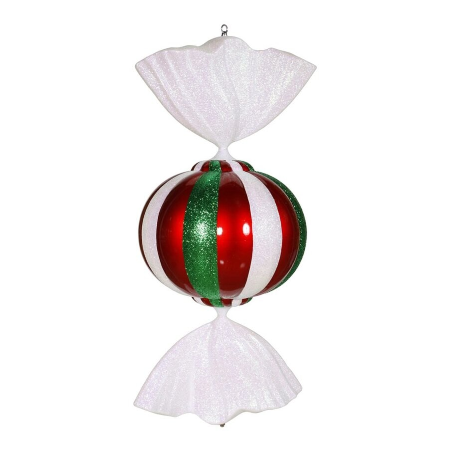 Vickerman Red/White/Green Candy Ornament