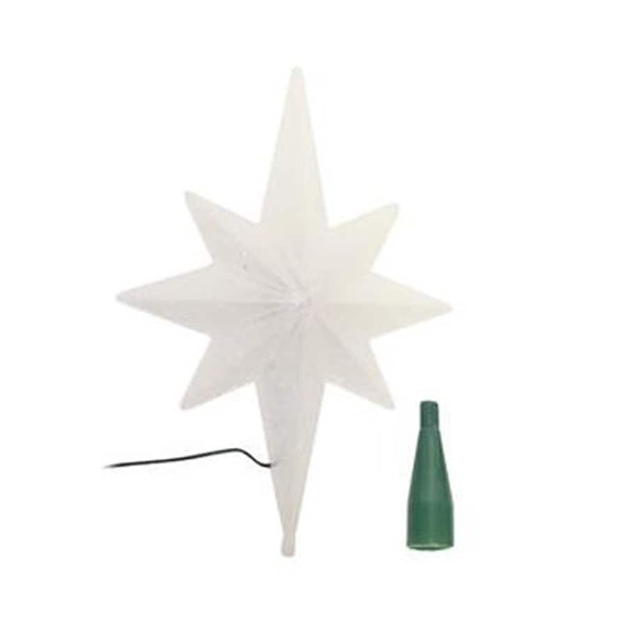 Northlight 14 5 In Pre Lit Multicolor Led Plastic Star Winter Frost Christmas Tree Topper