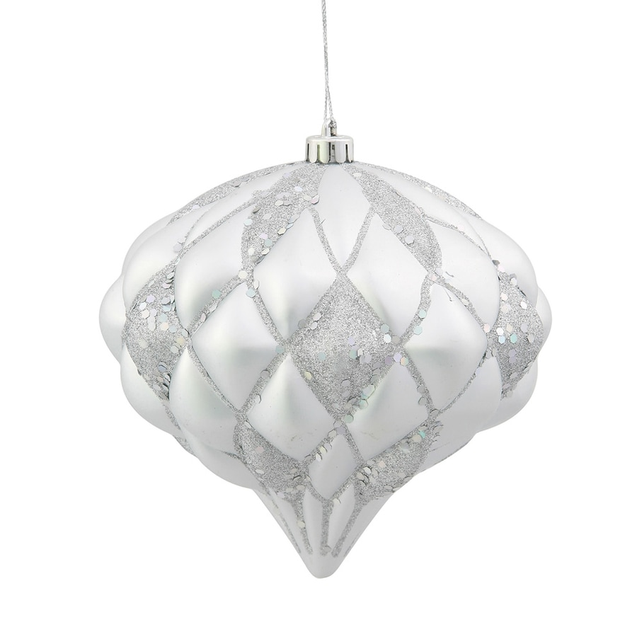 Vickerman Silver Diamond Ornament