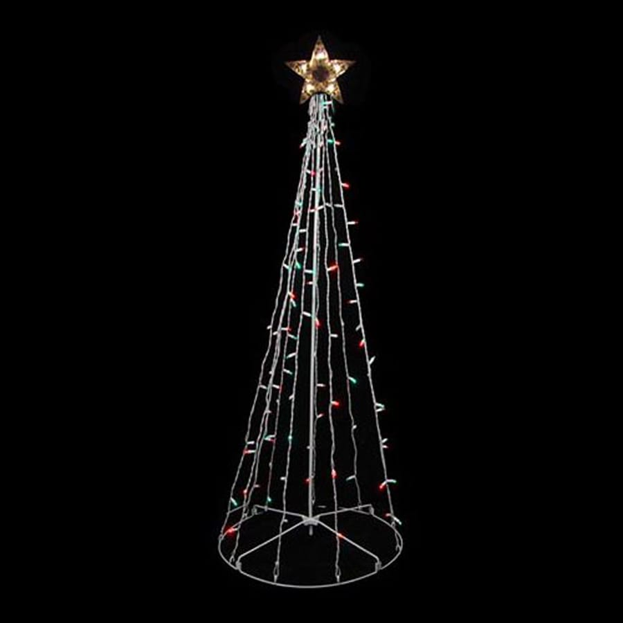 northlight 28 in freestanding tree light display with twinkling multicolor incandescent lights
