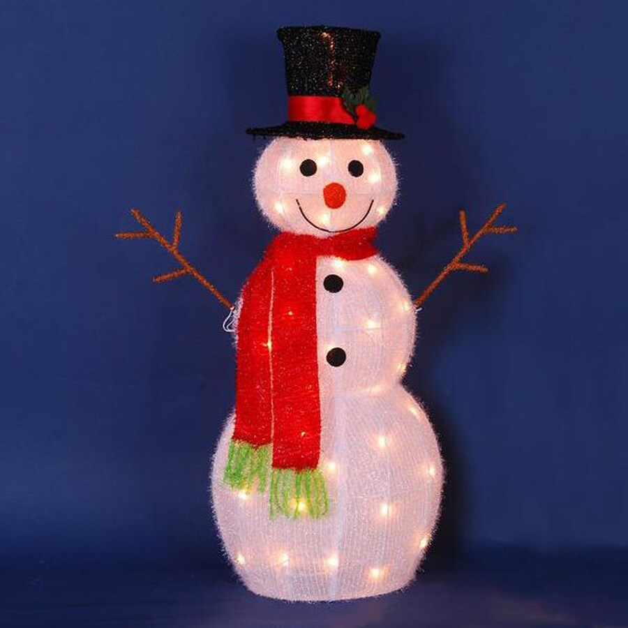 Northlight -ft Freestanding Snowman Greeter White Incandescent Lights