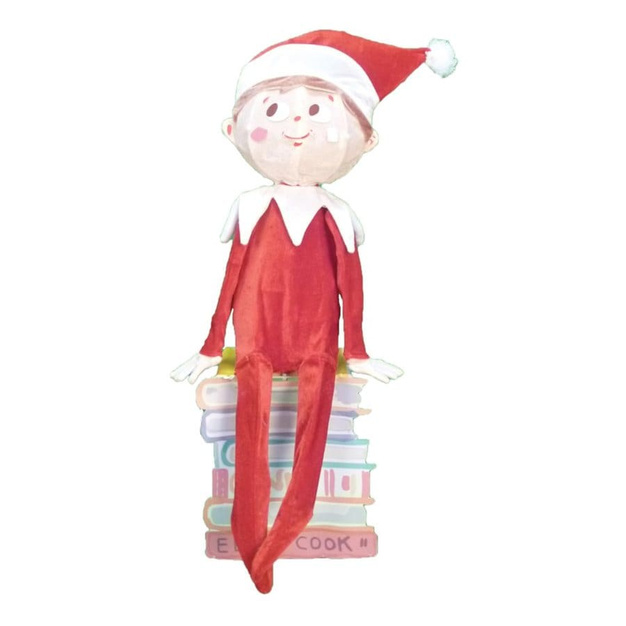 Northlight 2.66-ft Freestanding Elf Greeter with White Incandescent Lights
