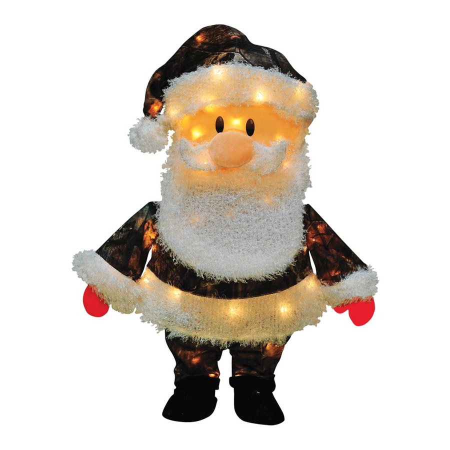Northlight Freestanding Santa Greeter with Constant White Incandescent Lights