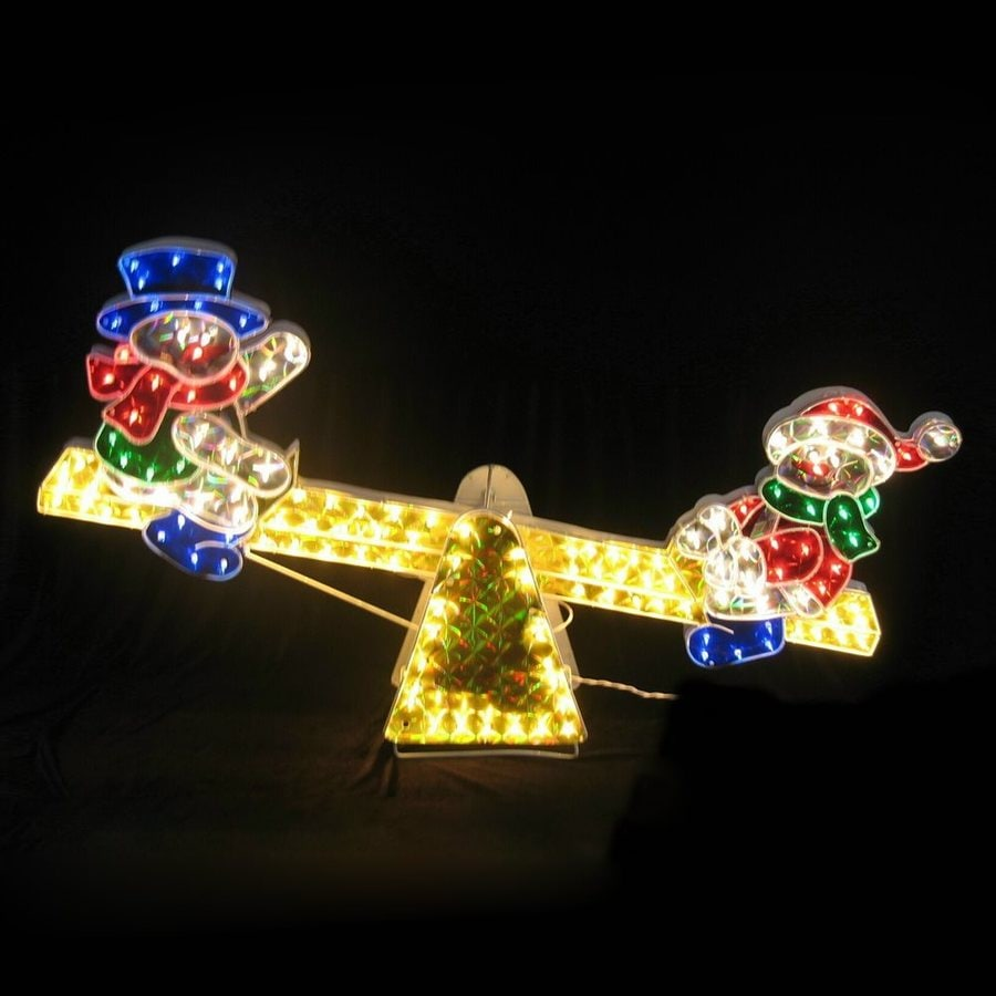 Northlight 4-ft Freestanding Snowman Light Display with Twinkling White Incandescent Lights